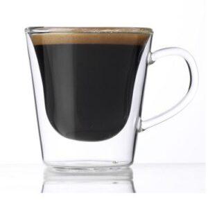 Duplafalú hőálló espresso csésze szett 12 cl 2 db