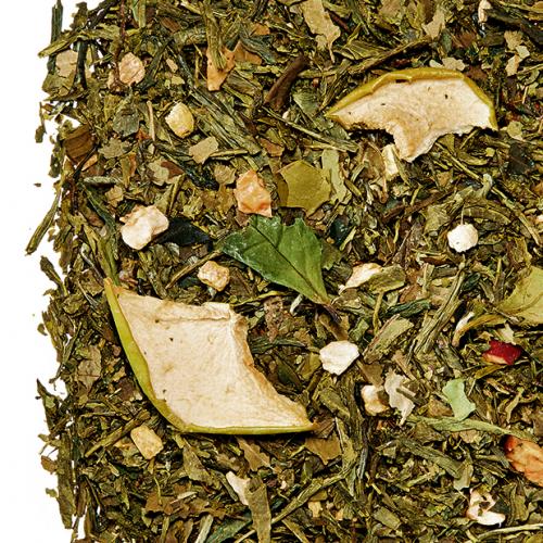 """Zahara """"Negyvennyolc"""" zöld szálas tea keverék almával és gyömbérrel"""