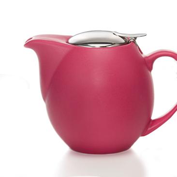 Matt málnapiros teáskanna teaszűrővel