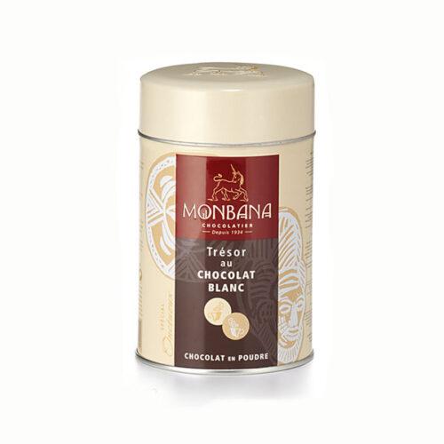 Monbana fehér csokoládé italpor forrócsokinak vagy jégkockákkal, hűsítő fehér csokoládé italnak forró csoki forró csokoládé