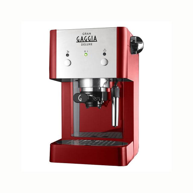 Gaggia piros karos kávéfőző kávégép