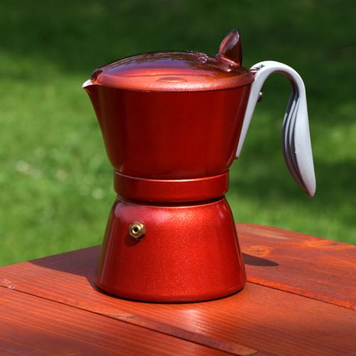 Olasz Super Alu kávéfőző 4 személyes Anyaga: aluminium Szín: téglavörös 4 személyes