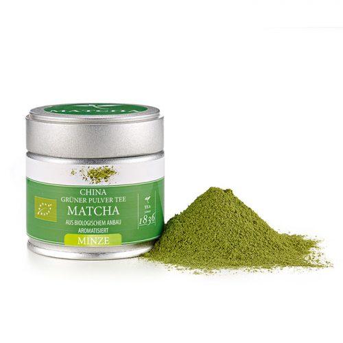 Bio ízesített matcha tea mentás