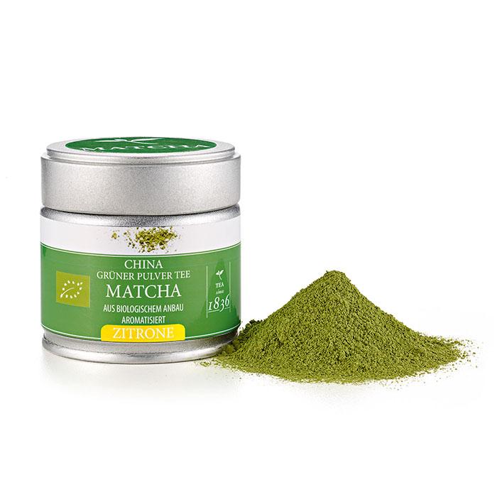 Bio ízesített matcha tea citromos