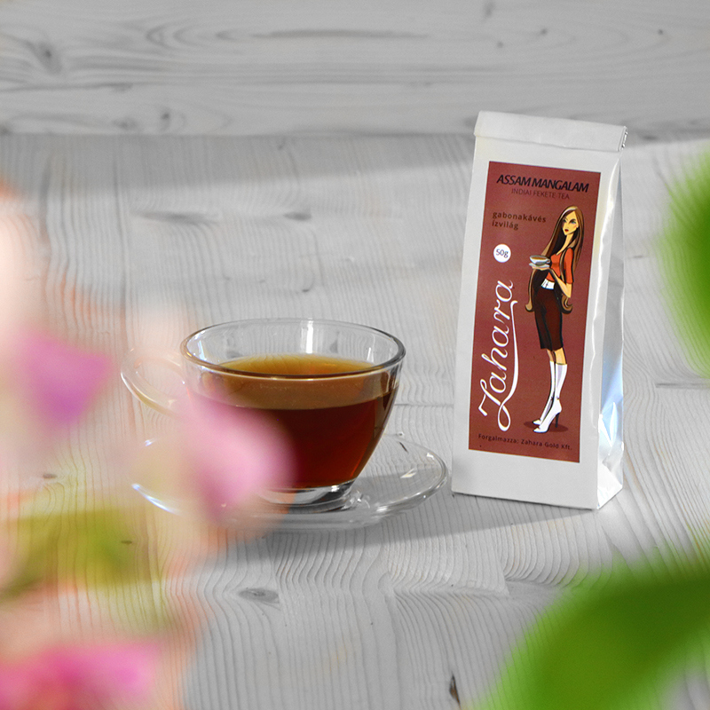 Assam Mangalam indiai fekete tea Zahara