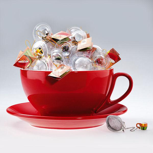Tea csomag meglepetés kézzel festett csészés teatojással