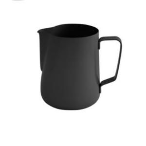 Rozsdamentes, tapadásmentes, 6 személyes, elegáns megjelenésű, fekete tejkiöntő.