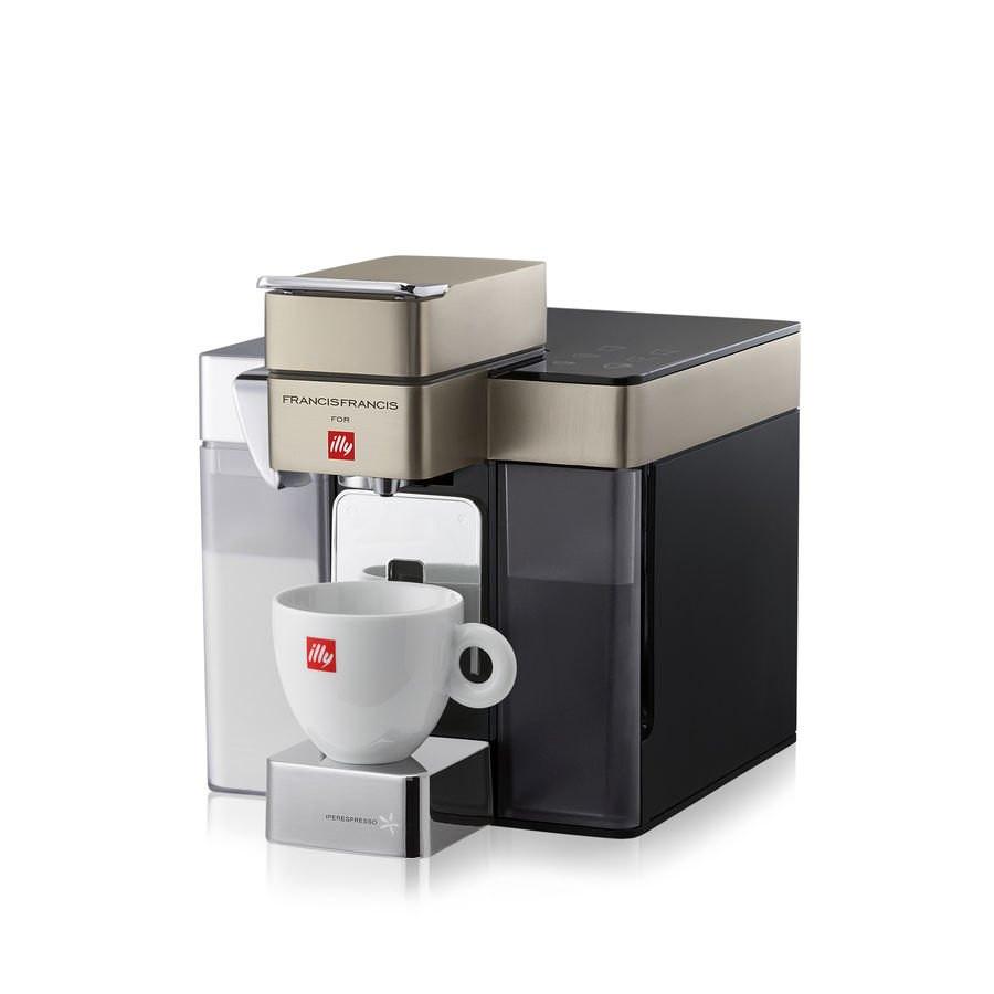 Illy Francis Francis Y5 MILK Iper és filter kapszulás kávéfőzőgép, satin