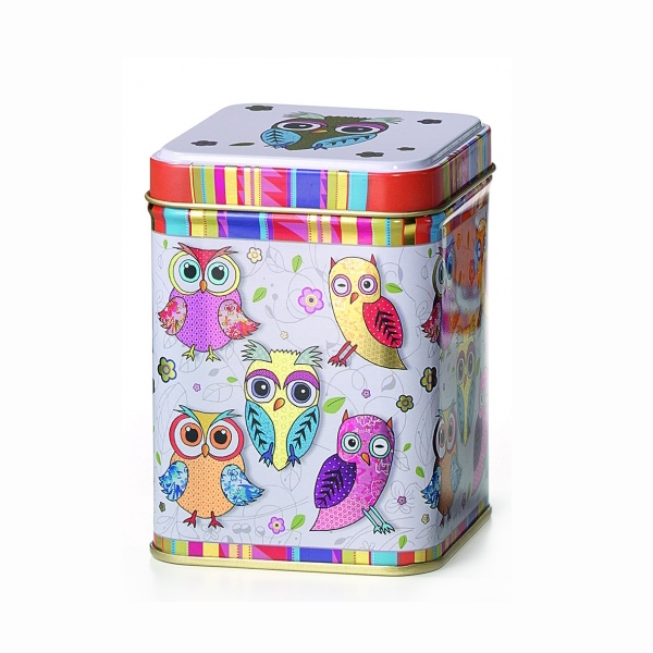 Hedwig baglyos fém teásdoboz 100g szálas tea tárolására