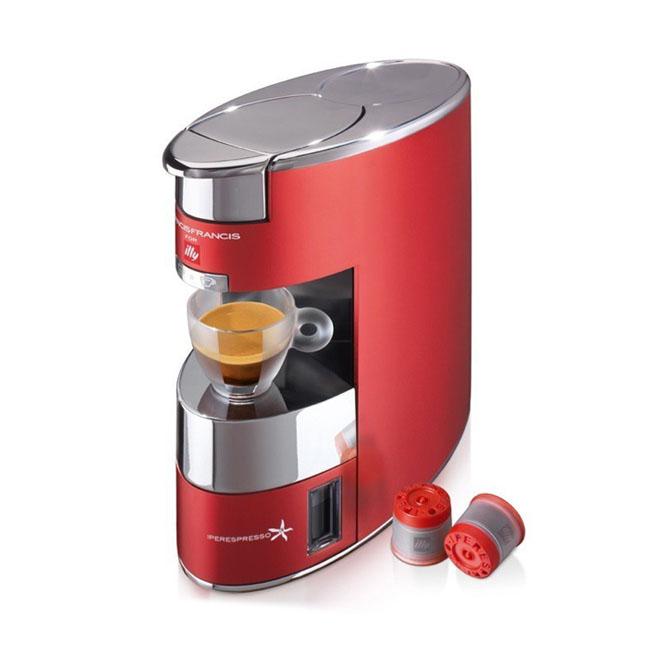 illy francisx9 illy kapszulás kávéfőzőgép kávégép bordó