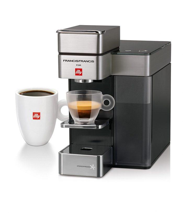 Illy Francis Francis Y5 Duo Iper és filter kapszulás kávéfőzőgép, SATIN