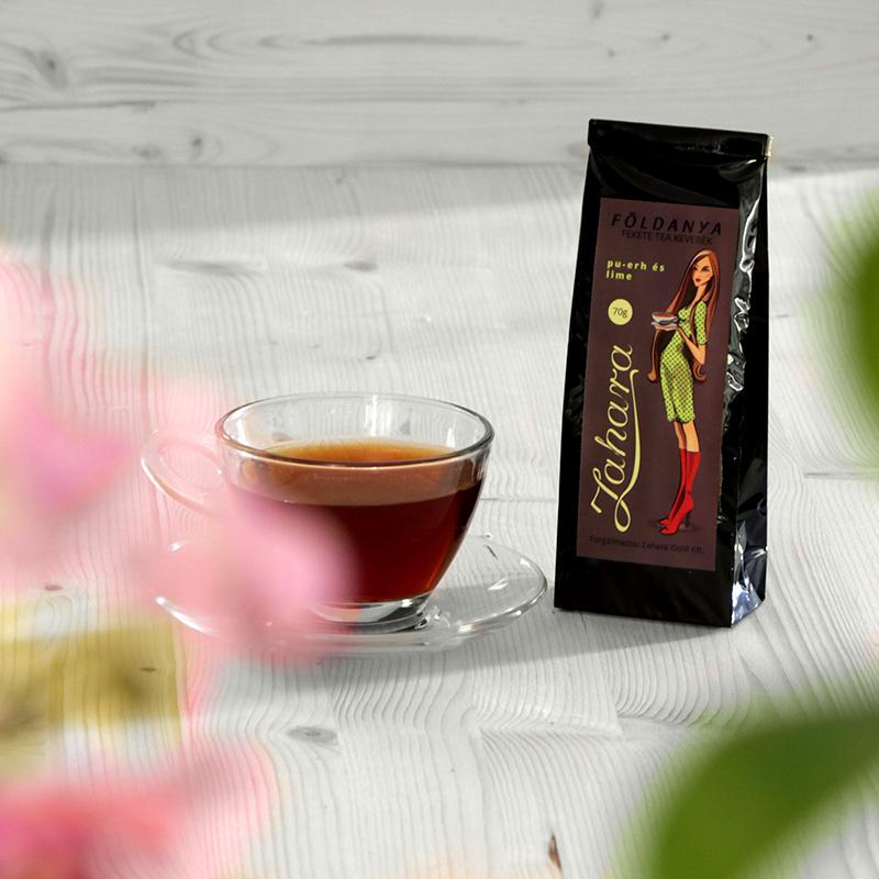 Szálas fekete tea keverék Zahara Földanya puerh tea