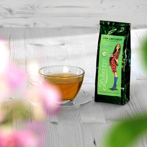 Earl Grey Green koffeinmentes zöld tea - Zahara
