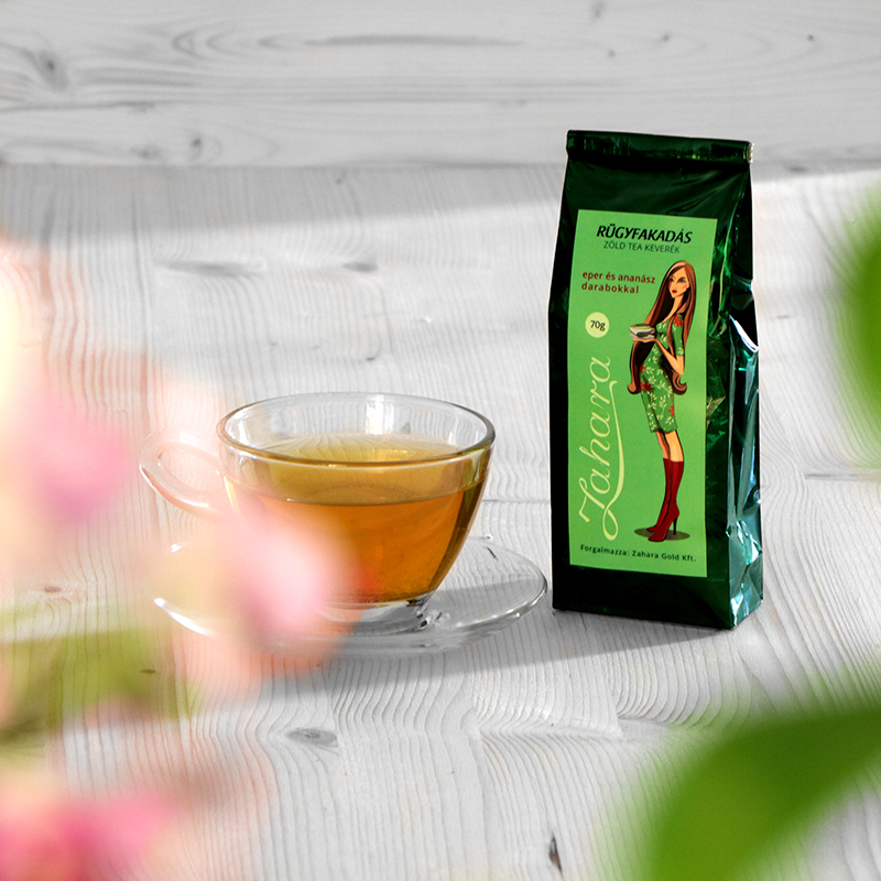 Szálas zöld tea keverék gyümölcsökkel - Zahara Rügyfakadás