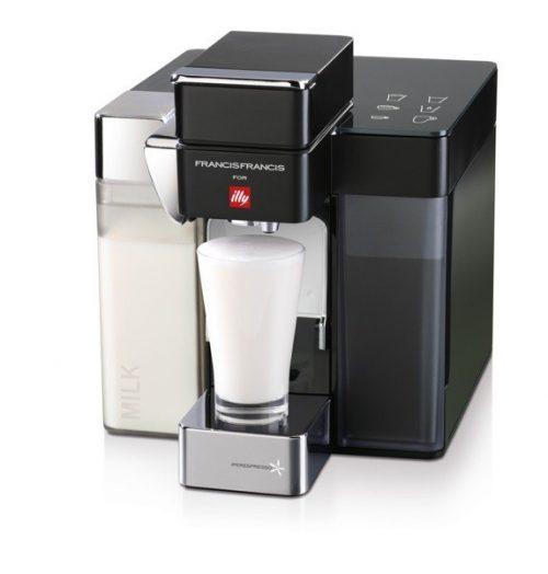 Illy Francis Francis Y5 MILK Iper és filter kapszulás kávéfőzőgép, fekete
