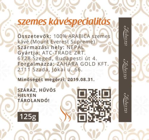 Zahara Nepál kézműves single origin szemes kávé