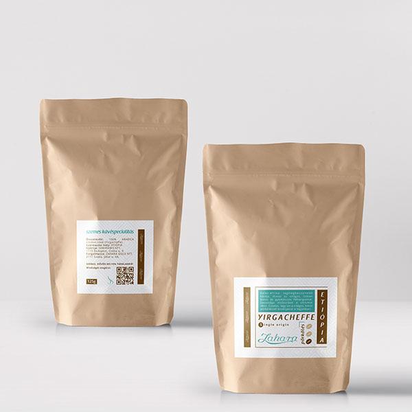 Zahara Etióp Yirgacheffe single origin frissen pörkölt szemes kávé világos pörköléssel