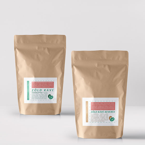 Zahara őrölt zöld kávé és őrölt pörkölt kávé keverék