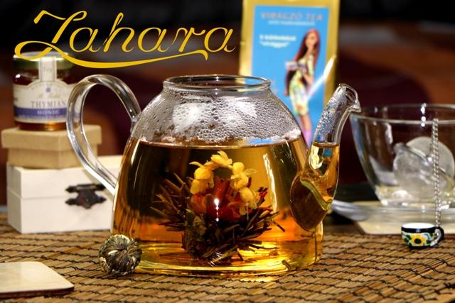 Virágzó tea rendelés Zahara zöld tea Tündérkosár