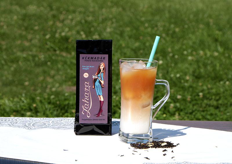 """""""Jeges Fekete"""" nyári jeges tea recept Earl Grey fekete szálas teából"""