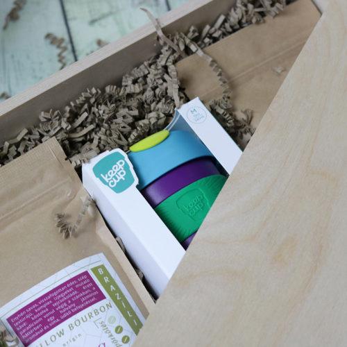 Fadobozos gasztro ajándék csomag - kávé ajándékba