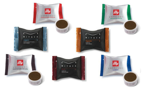 Mitaca - Illy kávé kapszula választék irodai kapszulás kávégép bérléshez