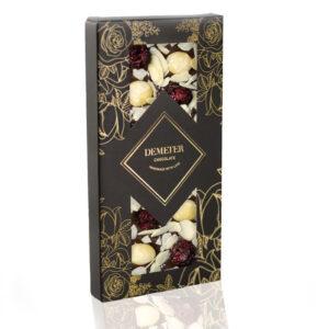 Kézműves csokoládé prémium kézműves étcsoki mandula makadámdió meggy Demeter csoki
