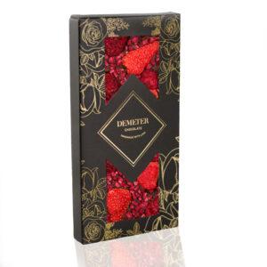Kézműves csokoládé prémium kézműves étcsoki eper málna Demeter csoki