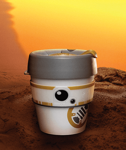 KEEPCUP TO GO ORIGINAL EDITION PLASZTIK KÁVÉS POHÁR BB8 _2_STAR WARS 227 ML