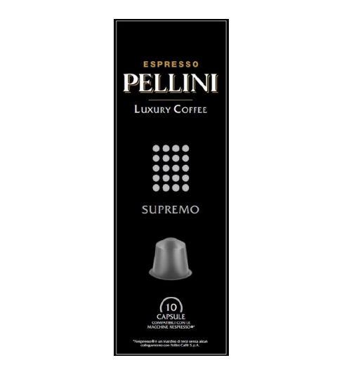 P025093 PELLINI LUXURY COFFEE SUPREMO 100 % Arabica Nespresso kompatibilis kávékapszula