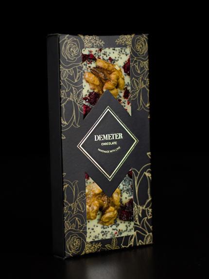 dió_mák_meggy_fehércsoki táblás csokoládé kézműves csokoládé kézműves csoki