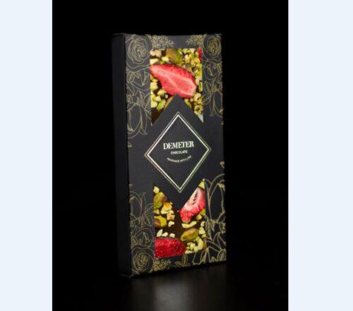 eper pisztácia táblás étcsokoládé kézműves csokoládé kézműves csoki