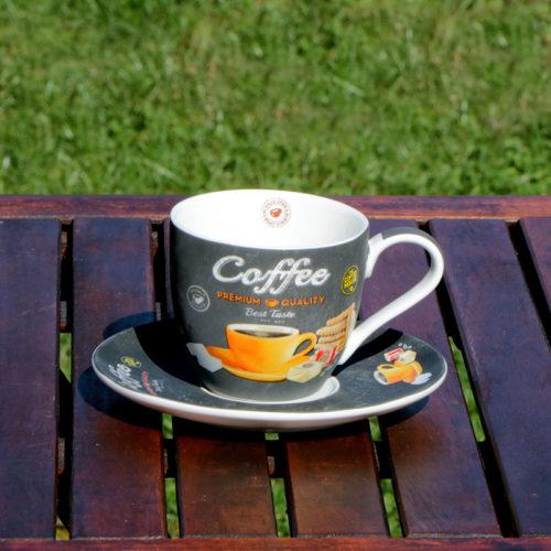 espresso csésze retro narancs mintás kávés csésze cappuccino csésze