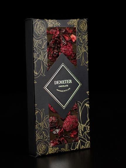 kézműves csokoládé prémium kézműves étcsoki málna meggy Demeter csoki