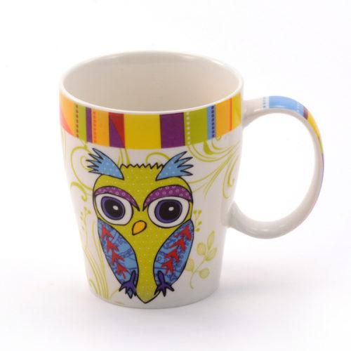 Baglyos teás, kávés bögre