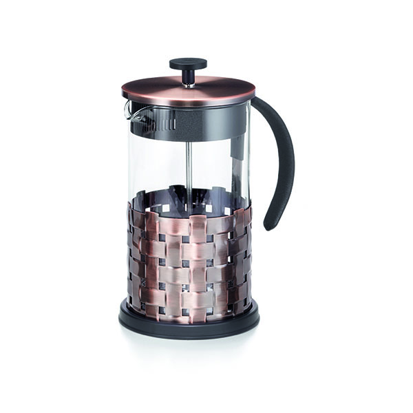 French Press dugattyús tea- és kávéfőző 1l