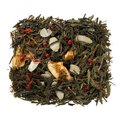 Mandulás-narancsos karácsonyi szálas zöld tea keverék