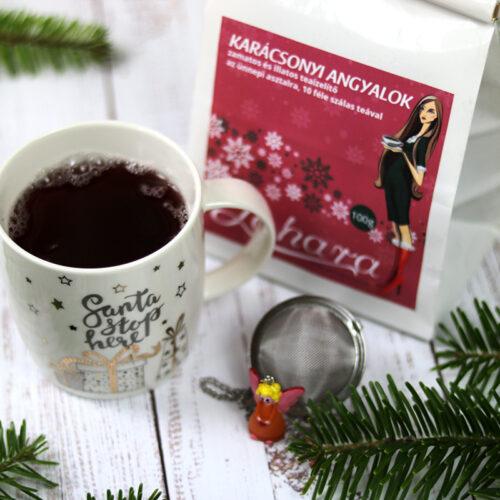 Zahara Karácsonyi Angyalok szálas tea válogatás ünnepi ajándékcsomag karácsonyi bögre és angyalkás teatojás