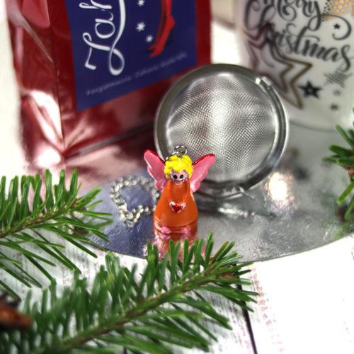 Karácsonyi forralt boros gyümölcs tea angyalkás teatojás és karácsonyi bögre