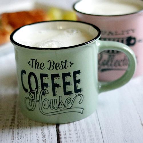 Retro fém hatású kávés, teás bögre