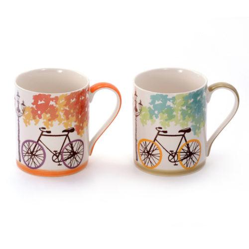 Biciklis kávés, teás bögre szett