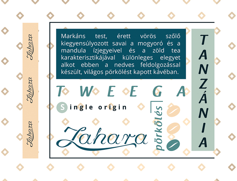 Tanzánia Tweega Supremo single origin szemes kávé Zahara