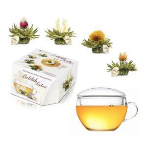 Ízesített virágzó tea szett - fehér tea