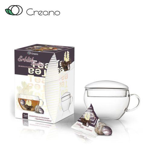 Ízesített virágzó tea szett - fekete tea