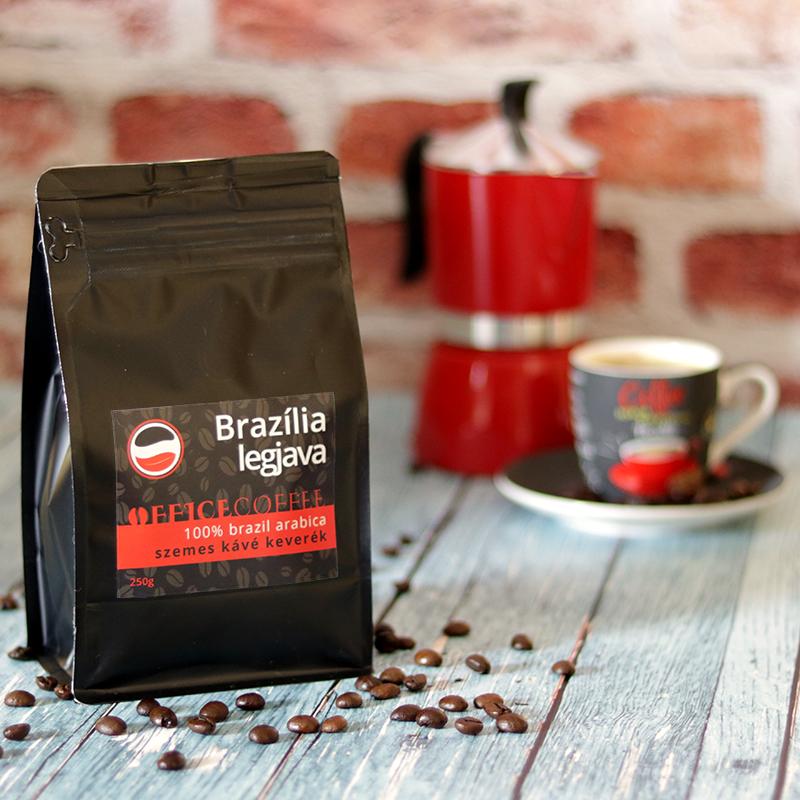 OfficeCoffee Brazília Legjava single origin szemes arabica frissen pörkölt kávé