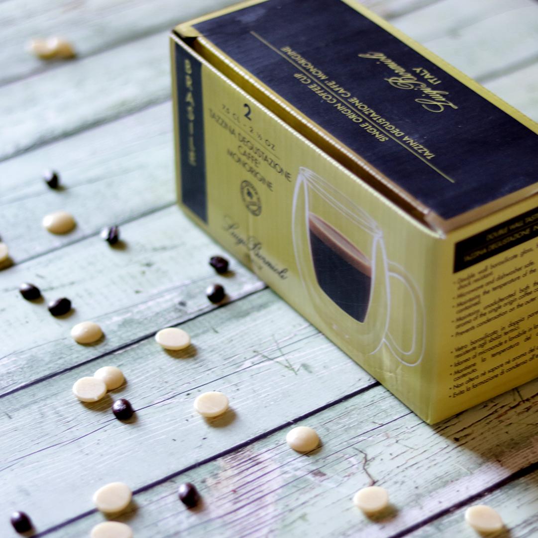 Duplafalú espresso kávéscsésze szett - hőálló és extra könnyű üveg - kerek, gömb forma