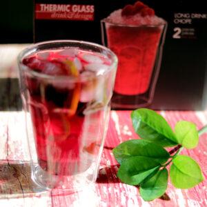 Duplafalú üveg limonádés pohár készlet