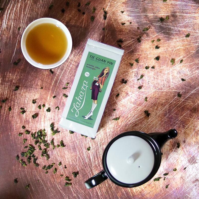 Tie Guan Yin kínai zöld tea és kínai teázó szett