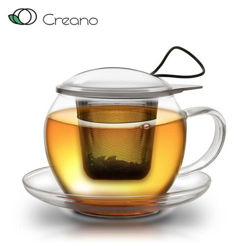 creano jumbo üveg teáscsésze szűrővel
