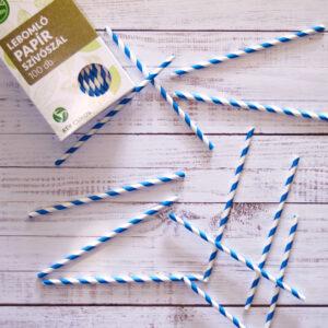 Papír szívószál lebomló, környezetbarát
